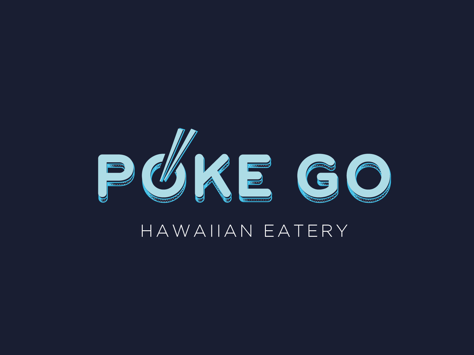 poke go logo design digital nomad